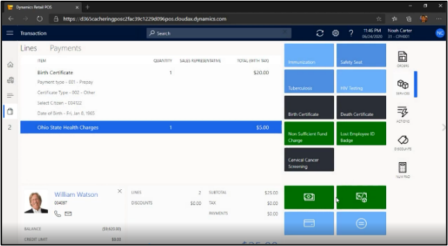 Cashiering Solution for Microsoft Dynamics 365 Commerce