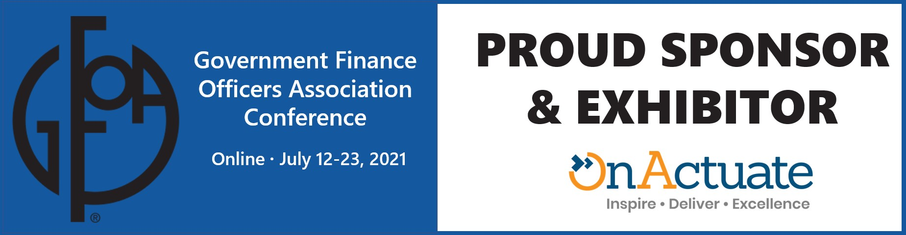 Microsoft Partner OnActuate Consulting to sponsor and exhibit at 2021 Government Finance Officers Association Virtual Conference